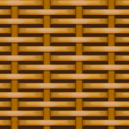 woven wicker rail fence seamless background Stock Vector - 10896346