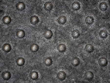 seamless old metal plate with rivets texture photo