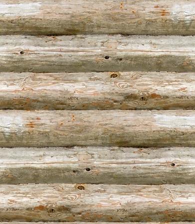 nahtlose Textur alten Mauer aus Holzbohlen gefertigt Standard-Bild