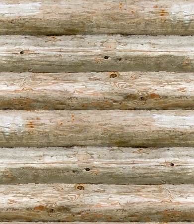 seamless texture old wall made of wooden logs photo