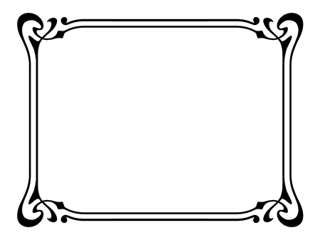 Vector art nouveau modern ornamental decorative frame