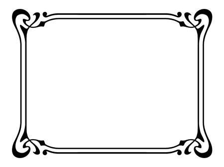 stile liberty: Vector art nouveau moderna cornice ornamentale decorativa