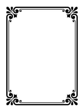Vecteur calligraphier simples d'ornement motif cadre décoratif Vecteurs