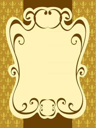 ellipses: vector elegance vintage label frame pattern background Illustration