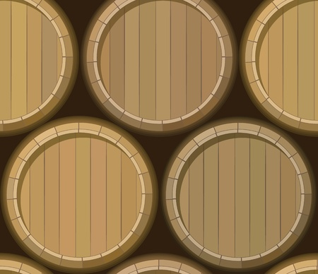 vector old barrel stand seamless background pattern Stock Vector - 11142833