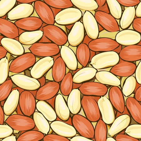 vector red yellow peanuts seamless background pattern Stock Vector - 11398441