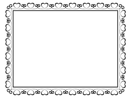 calligraphy frame: Vector caligraf�a ornamentales marco decorativo con el coraz�n