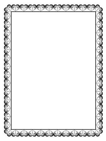 border line: Vector calligraphy ornamental decorative frame with heart