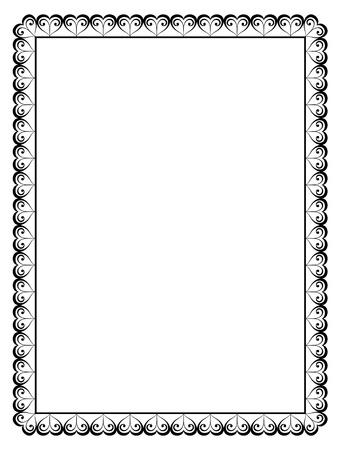refine: Vector cornice calligrafia ornamentale decorativa con il cuore Vettoriali