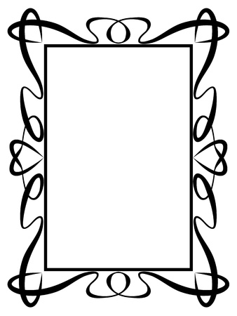 Vector calligraphy ornamental decorative frame with heart Stock Vector - 11655501