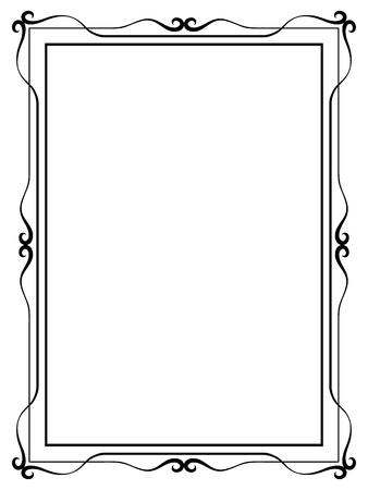 refine: Vector semplice motivo ornamentale Calligraph cornice decorativa