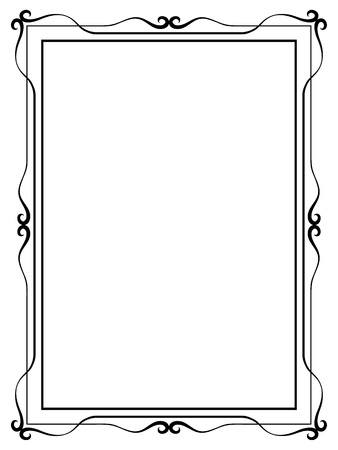 borderframe: Vector simple calligraph ornamental decorative frame pattern