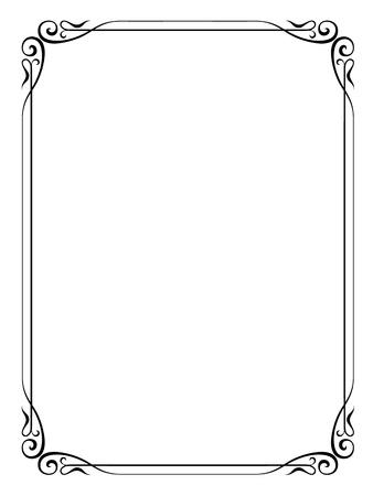 grens: Vector eenvoudige calligraph sier decoratief kader patroon