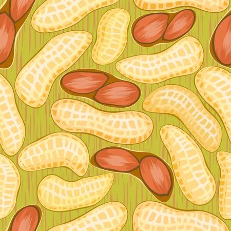 peanut: vector pod red peanuts seamless background pattern
