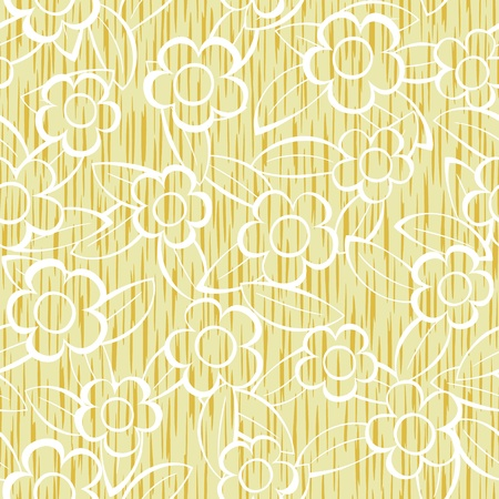 Vector abstract flowers seamless repeat pattern background Vector