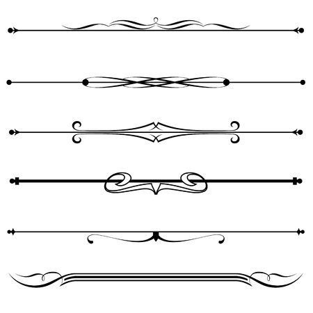 Vector set of decorative divider, elements, border