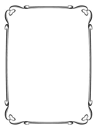 Calligraphie Vecteur cadre ornemental décoratif avec coeur Vecteurs