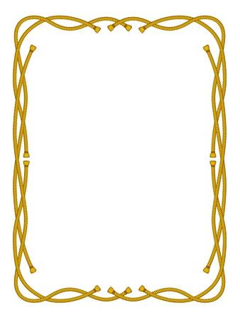western background: Vector marco de cuerda aislado en blanco