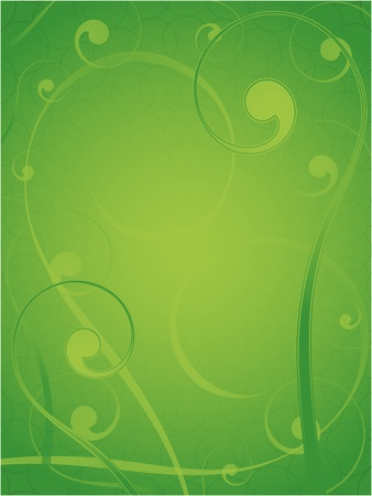 vector abstract floral pattern green swirl frame Vector
