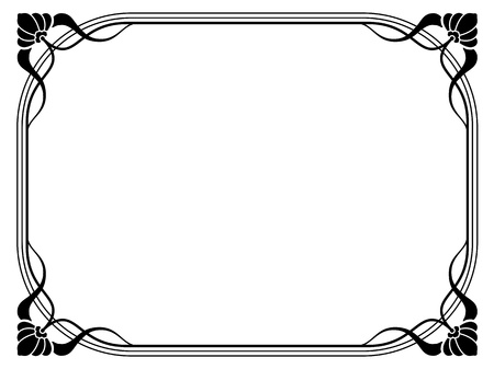 art deco background: Vector art nouveau modern ornamental decorative frame