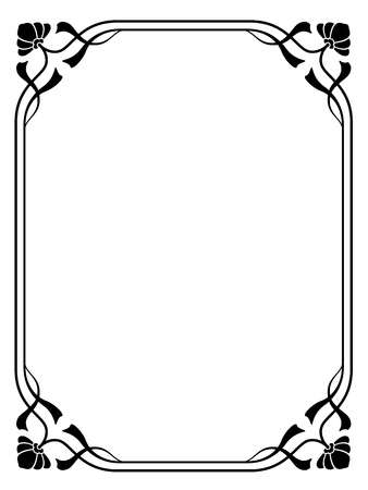 Vector art nouveau modern ornamental decorative frame Stock Vector - 11816202