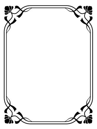 art nouveau: Vector art nouveau modern ornamental decorative frame