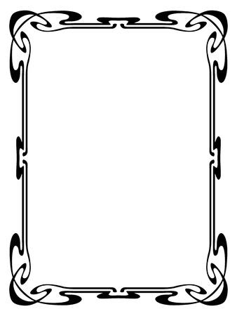 cartouche: Vector art nouveau modern ornamental decorative frame