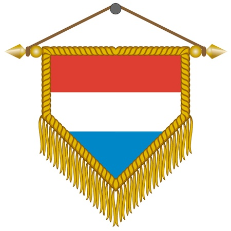 pennon: pennant with the national flag of Netherlands Illustration
