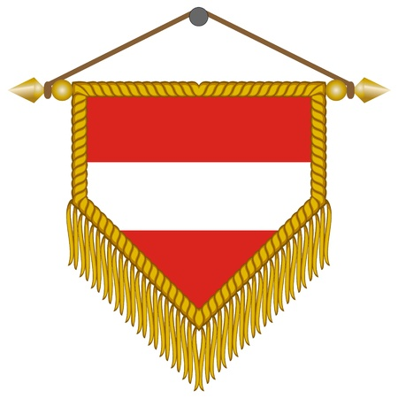 pennant with the national flag of Austria Illustration