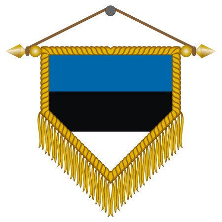 pennant with the national flag of Estonia