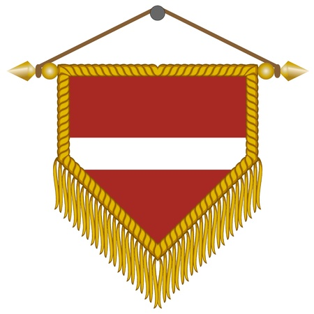 whiff: pennant with the national flag of Latvia
