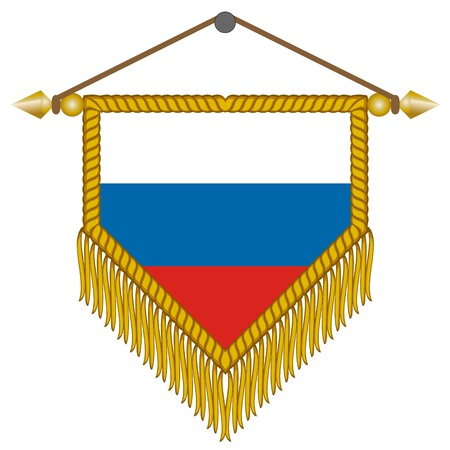 pennant with the national flag of Russia Illustration