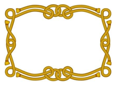 western background: marco de la cuerda aislado en blanco