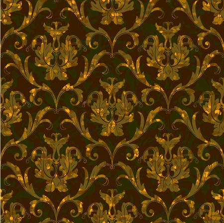 seamless floral damask brocade pattern background Stock Vector - 11889508
