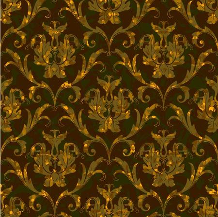 brocade: seamless floral damask brocade pattern background Illustration