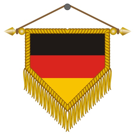 pennant with the national flag of Germany Illustration