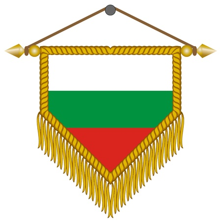 pennant with the national flag of Bulgaria