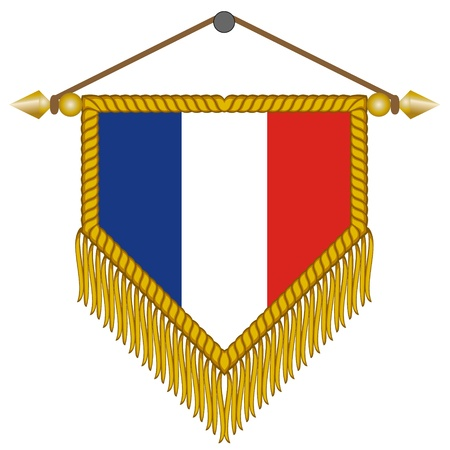 banderol: pennant with the national flag of France