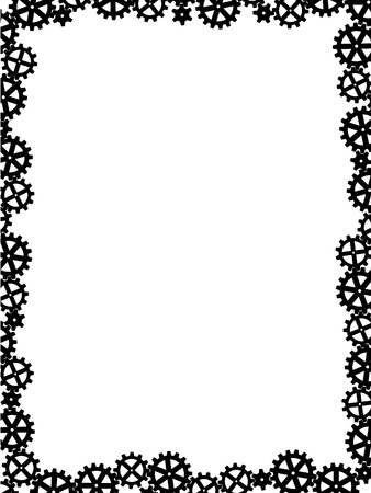 different gears black like frame pattern Stock Vector - 11889412