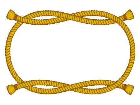 rope vector: vector frame from rope isolated on white