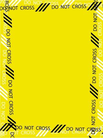 DO NOT CROSS pattern like a frame background Stock Vector - 11976230