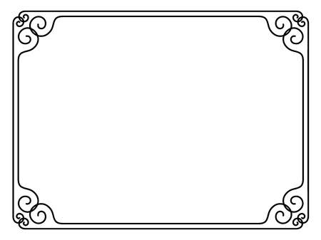 scroll border: Vector simple calligraph ornamental decorative frame pattern