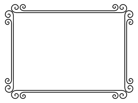 diploma border: Vector simple calligraph ornamental decorative frame pattern