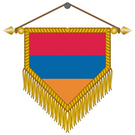 pennant with the national flag of Armenia Illustration