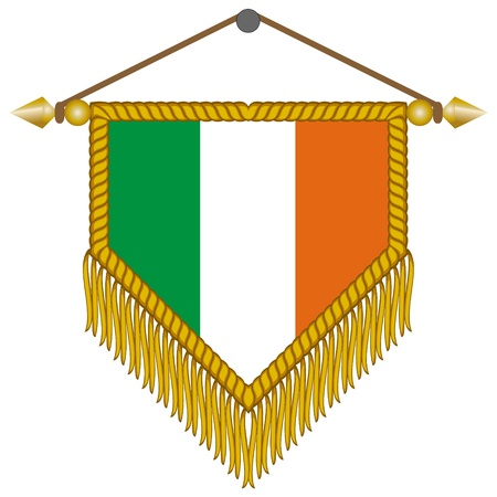 vector pennant with the national flag of Ireland