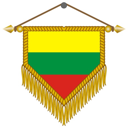 banderol: pennant with the national flag of Lithuania