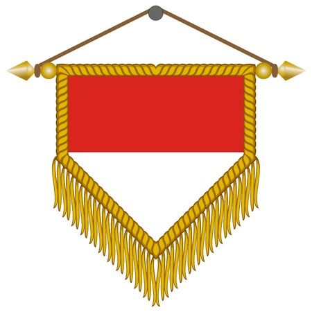 pennant with the national flag of Monaco