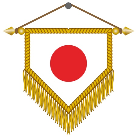 pennant with the national flag of Japan