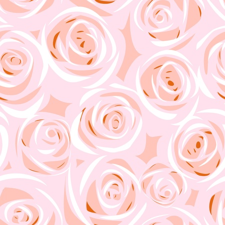 flower close up: vector abstract rose seamless background Illustration