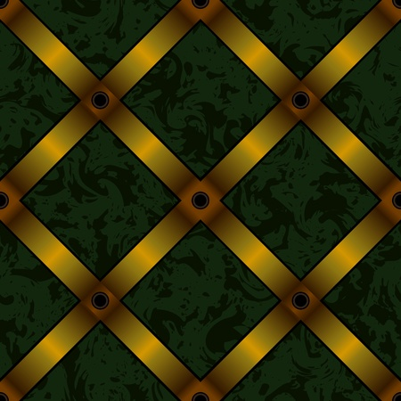 vector upholstery background with gold ribbon seamless Vector